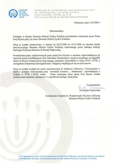 referencje-Muzeum-Histrorii-Żydów-Polskich